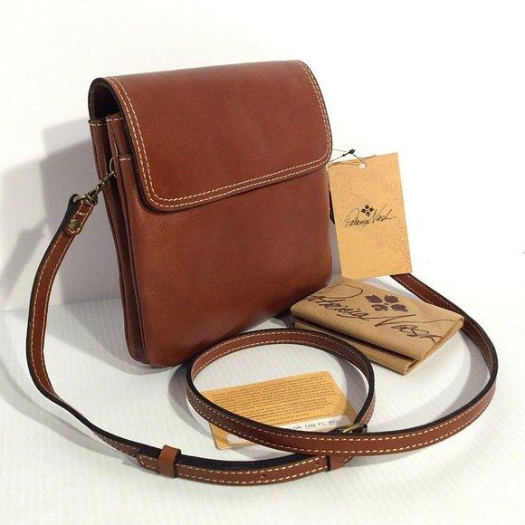 Patricia Nash Balluri Tan Leather Crossbody NWT